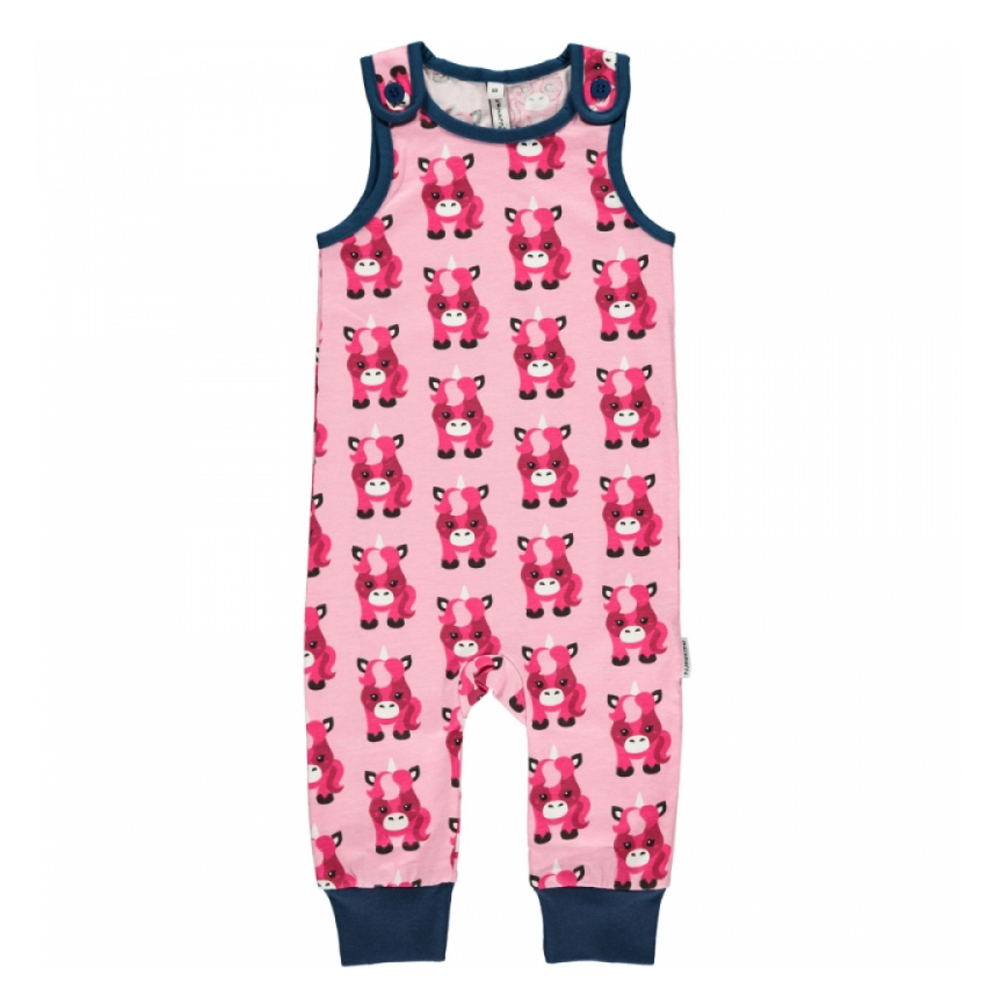bf85a938035 Unicorns dungarees by Maxomorra in organic cotton