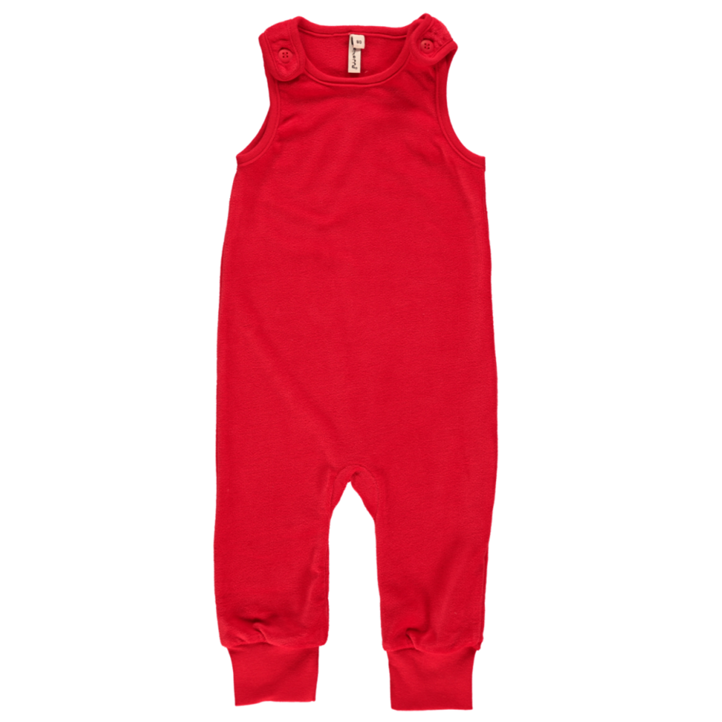 a2f890c10a4 Red velour dungarees by Maxomorra in organic blend velour (68cm 4-6m ...