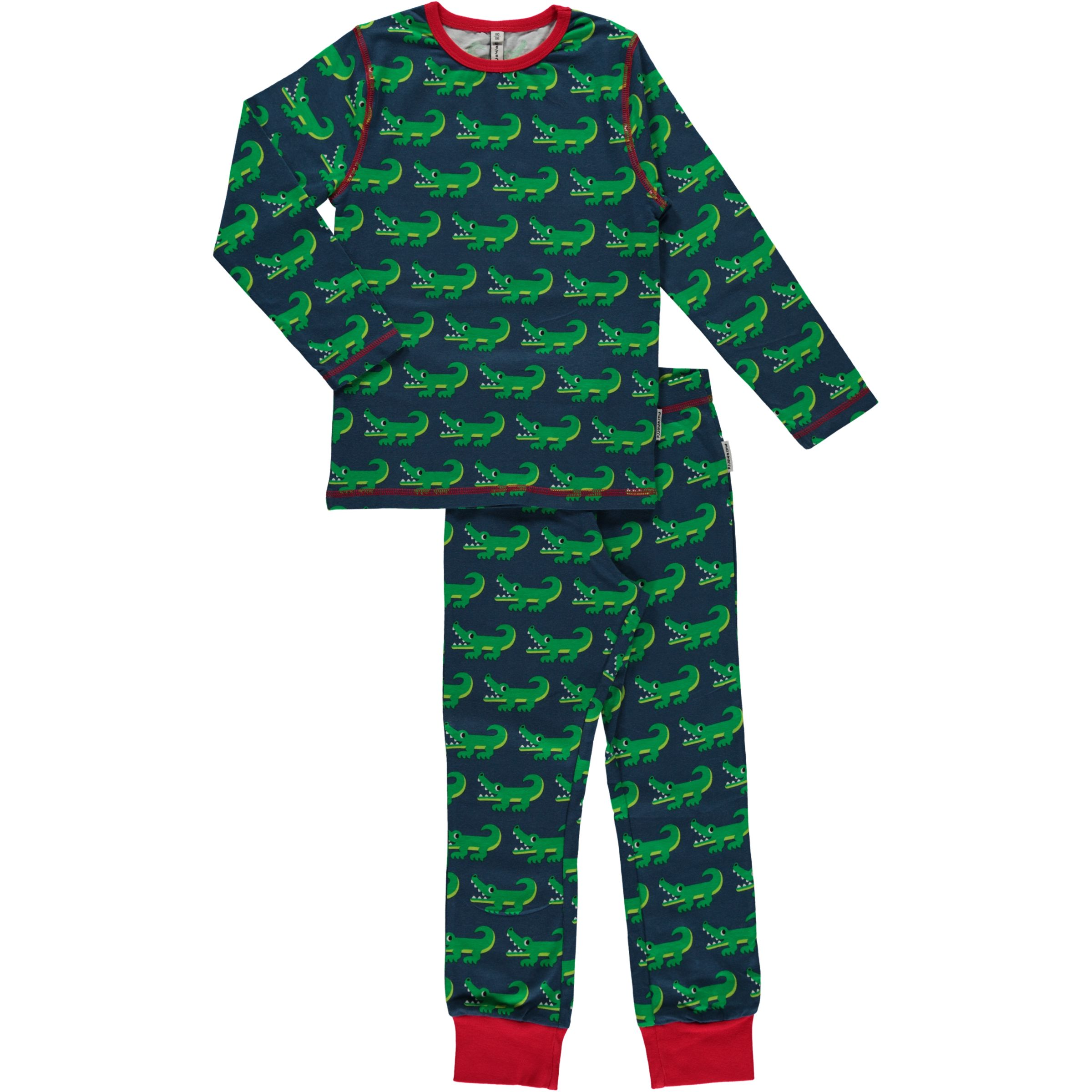Maxomorra organic cotton long sleeve crocodile pyjamas ...