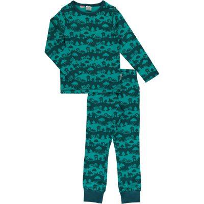e9878e5529e1 Maxomorra organic cotton pyjamas in turquoise landscape design