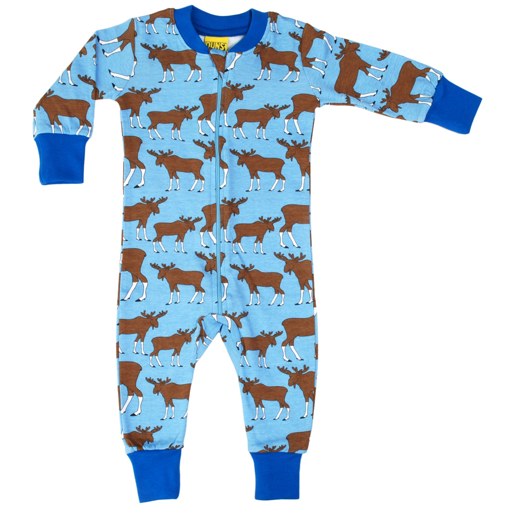 Duns Sweden Moose Organic Cotton Zipsuit 92cm 18 24m