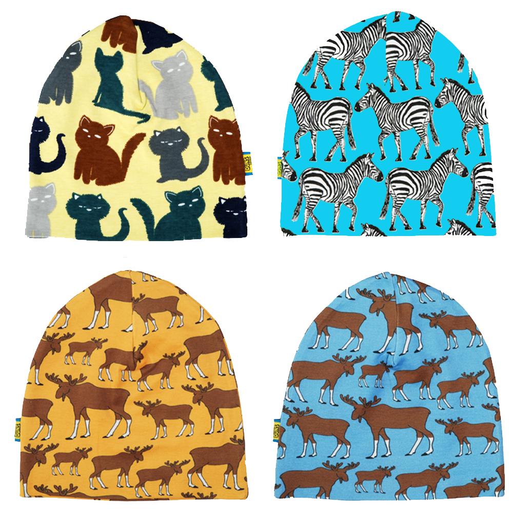DUNS Sweden organic cotton beanie hat  turquoise zebra  d08a118322a
