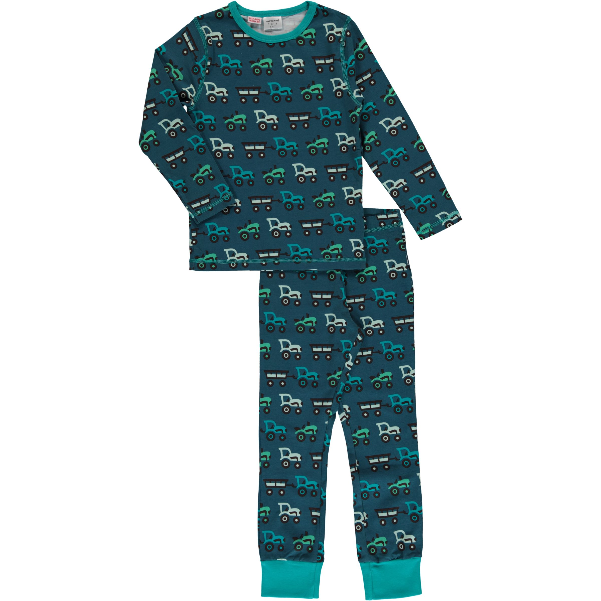 10316b626115 Maxomorra organic cotton pyjamas in tractors print