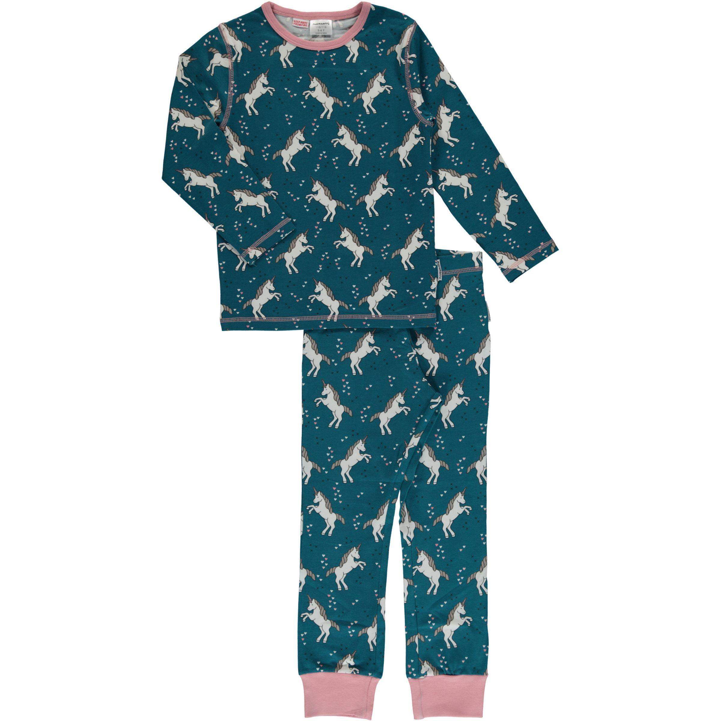 df015df51b56e Maxomorra organic cotton pyjamas in unicorn dreams print (122-128cm 6-8  years)