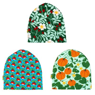 DUNS Sweden organic cotton beanie hat  green rosehips  14e67089c52f