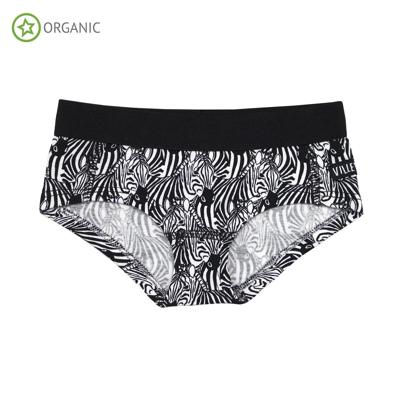5bcf47d1dee332 Villervalla organic cotton knickers – Zebra | Uni and Jack