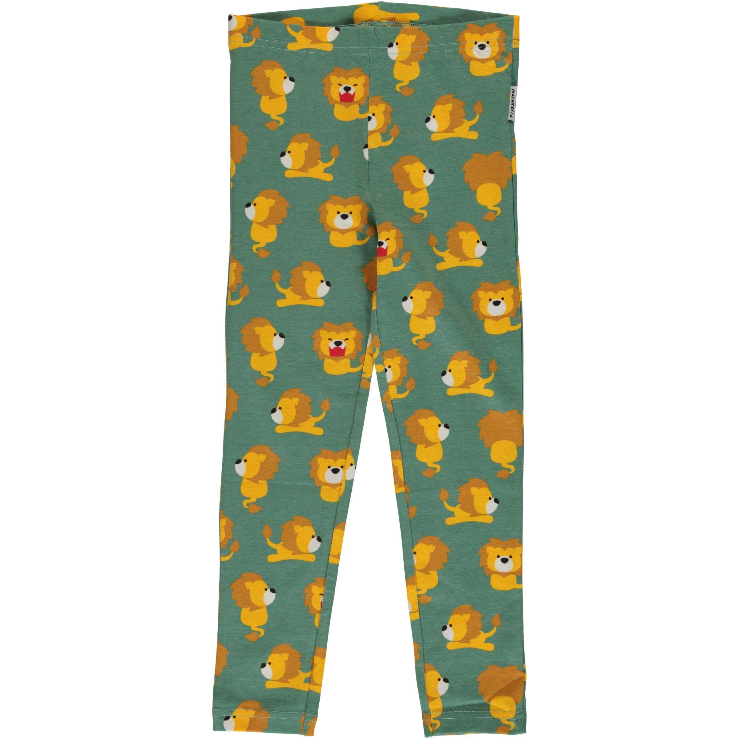 a769c76c04924 Lion organic cotton leggings from Maxomorra | Uni and Jack