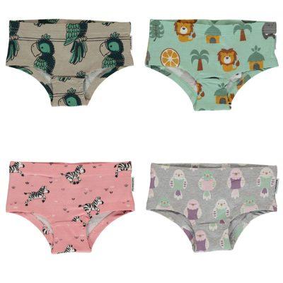 485573ada70691 Maxomorra organic cotton hipster knickers | Zebra | Jungle | Budgie | Parrot